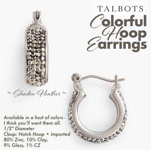 Colorful Hoop Earrings ~ Shadow Heather ~